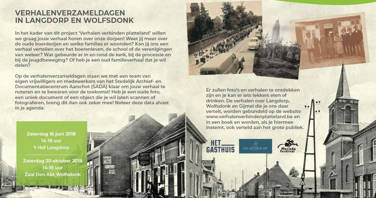 """Project """"Verhalen verbinden Platteland"""" van start !"""
